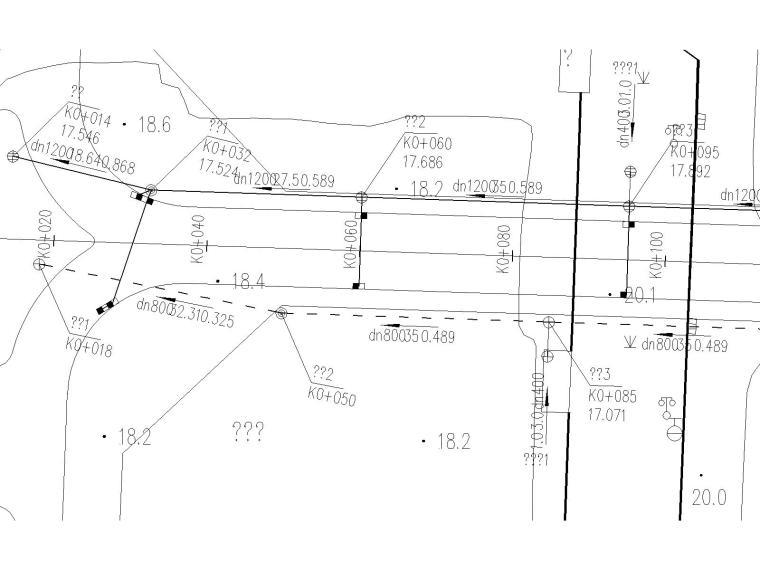 市政道路路基、路面工程、排水工程,照明工程及防护等施工图(包含说明书)