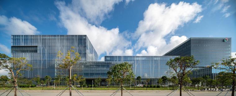 珠海天圆地方概念的医药科技产业园总部大楼-4