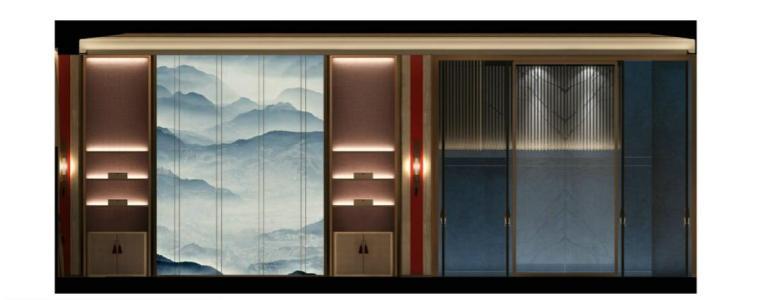 [佛山]知名设计新中式与现代简约别墅样板房设计施工图(含实景图_7