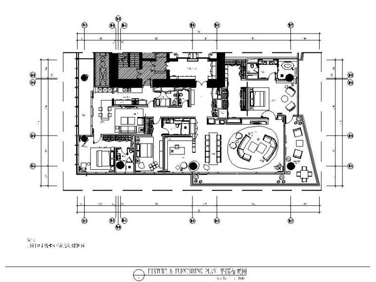 [福利]3套现代简约精致样板间完整设计施工图(含效果图+物料表)_3