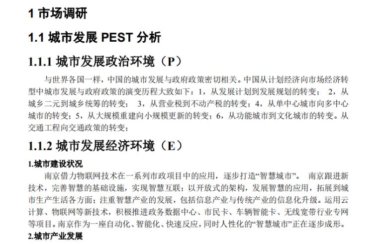 南京某房地产项目前期策划