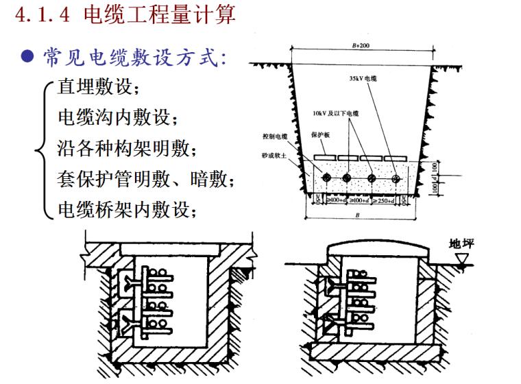 建筑电气工程量计算方法-电缆工程量计算