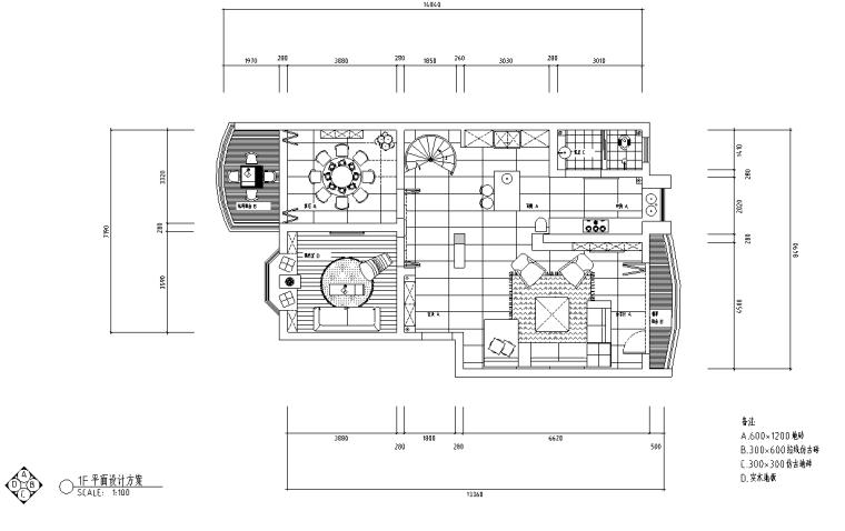 [分享]现代客厅施工图资料下载图片