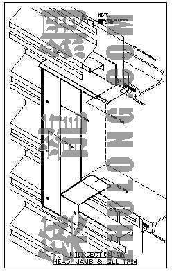 美国轻钢结构彩板围护的节点详图集