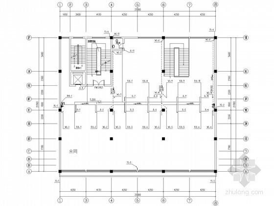 [湖南]多层商住房给排水消防施工图