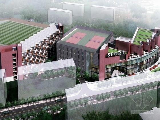 [上海]五层体育馆建筑设计方案(含CAD)