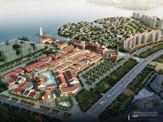 [山东]某欧式商业区规划及建筑单体设计方案文本