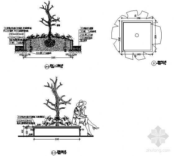 广场树池大样图-4