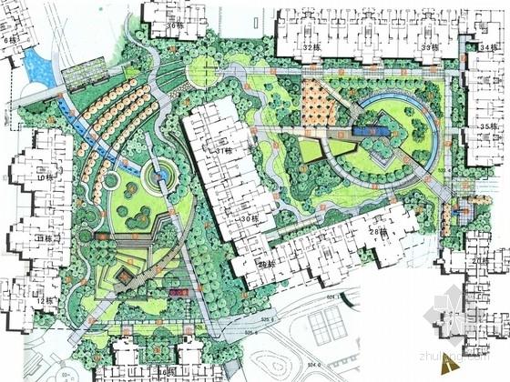 [成都]现代自然式居住区景观规划设计方案