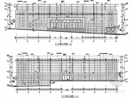 [重庆]两层框架抗震墙结构全民健身中心结构施工图(含建筑图)