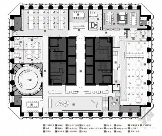 [香港]现代原木朴实风格办公空间方案设计