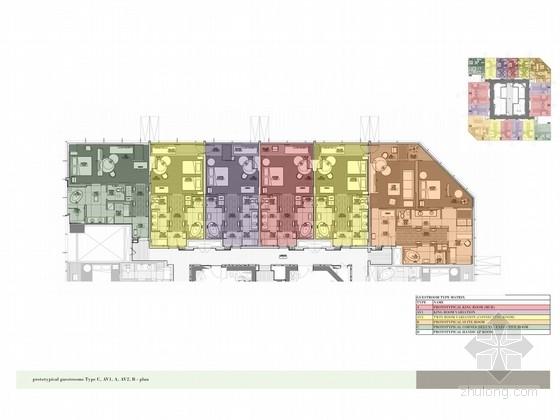 [广州]市中心核心地带五星级商务酒店客房方案设计