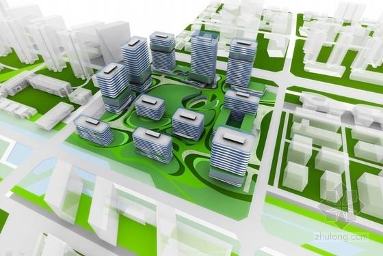 [成都]大中型企业产业园办公集群规划设计方案文本-大中型企业产业园办公集群效果图