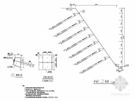 锚索护坡专项方案资料下载-预应力锚索结合植草护坡结构图