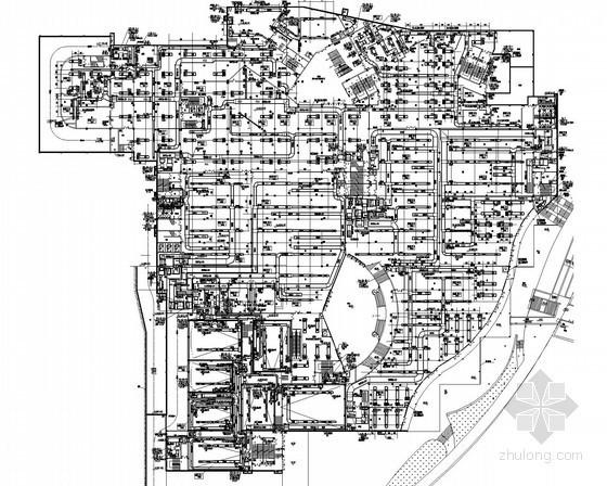 [湖南]商业办公综合楼空调通风及防排烟系统设计施工图(冷热源站房 人防设计)