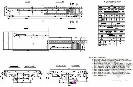 [广东]24米有砟轨道后张法预应力混凝土简支箱梁图纸34张(双线)