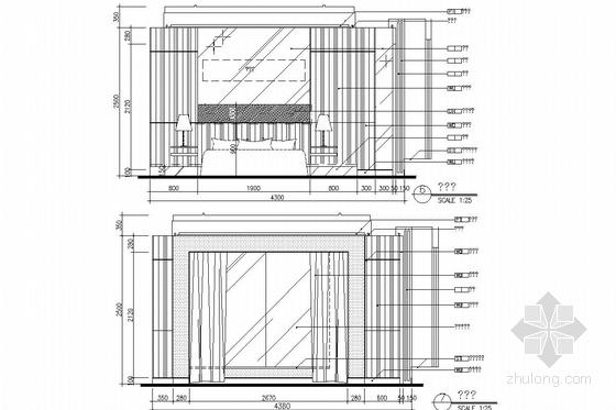 [深圳]市中心繁华地带五星级度假酒店施工图(含实景图) 客房立面图