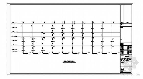 四川某县医院给排水消防设计图