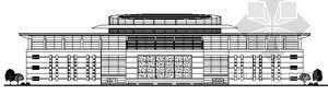 温州某会议中心建筑方案图