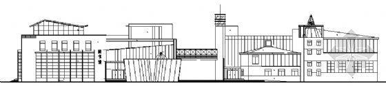 某四层图书馆阶梯教室建筑施工图