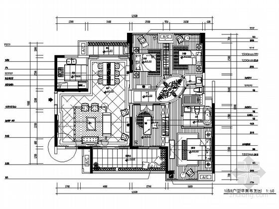 [广东]130平某四室两厅现代欧式风格样板房装修图(含效果和实景)
