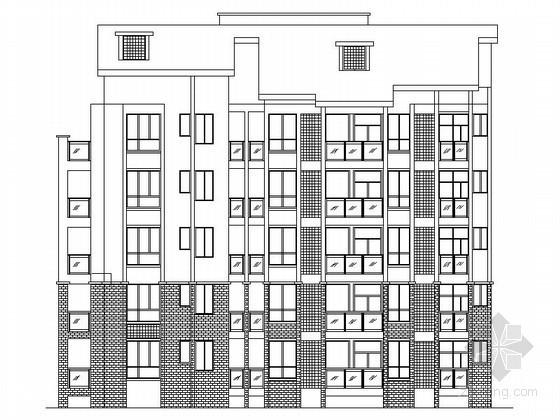 某六层回字形住宅楼群建筑施工图