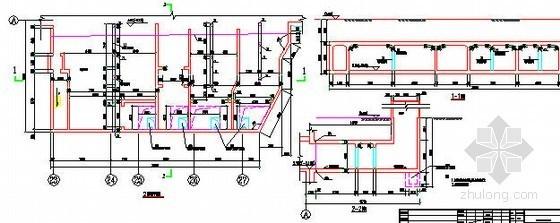 地铁车站风亭结构平剖面设计图