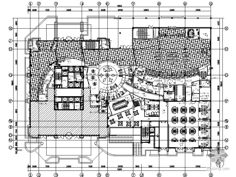 [杭州]工行营业办公楼大堂施工图(含效果)