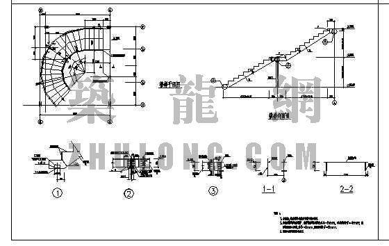 钢结构旋转楼梯图