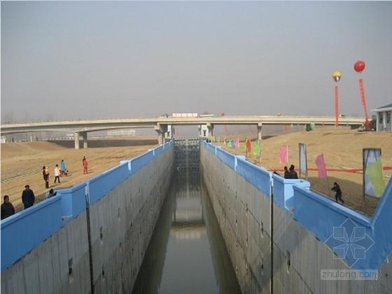 跨船闸桥及其接线工程施工图全套(25m箱梁 照明排水交通)