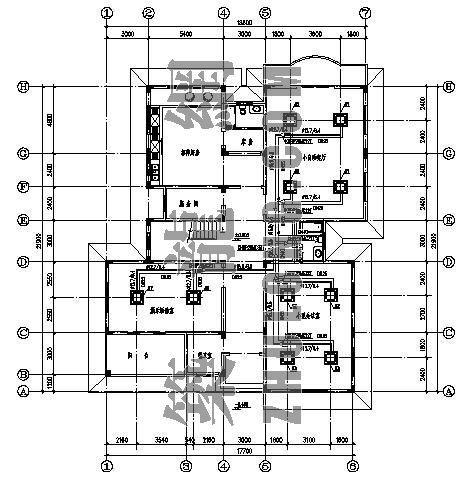 vrv办公楼空调设计资料下载-某三层办公楼VRV空调设计图