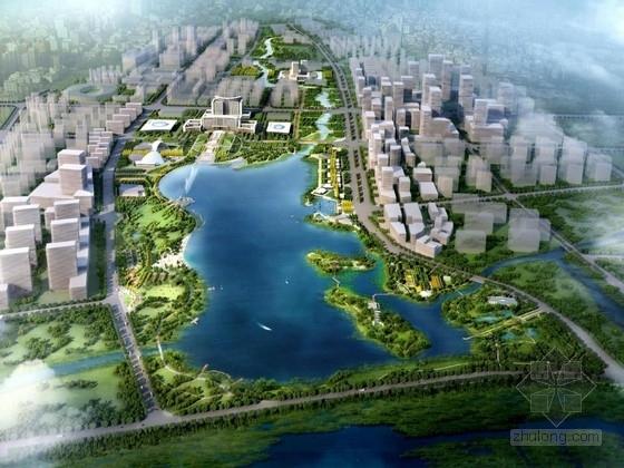 [山东]临湾滨湖中轴公园景观规划设计方案(含扩初设计)