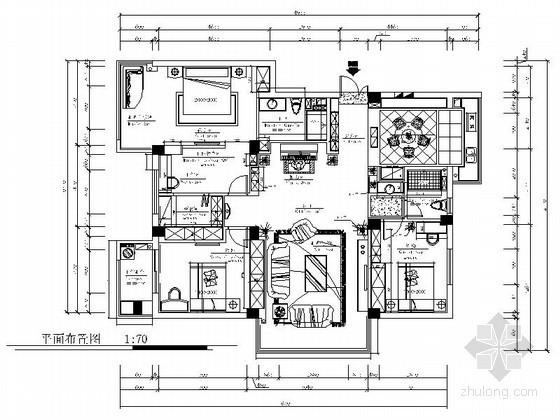 欧式古典三居室装修图