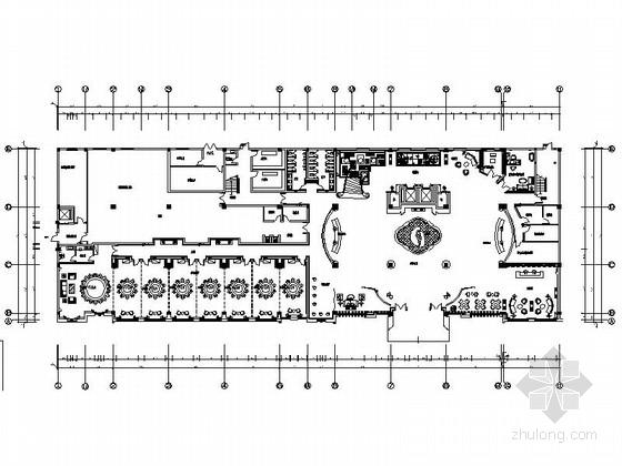 [安徽]徽派盆景主题私家花园典雅奢华四星级酒店设计施工图(含效果)