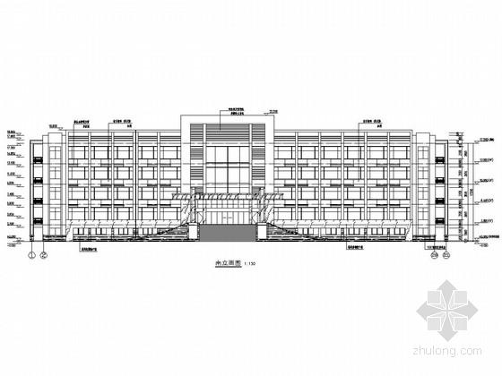 五层框架结构科技公司办公楼结构施工图(含建筑图)