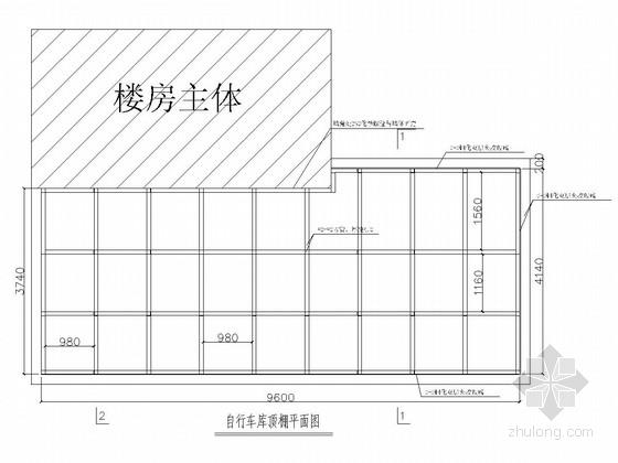 自行车车库顶棚钢结构图
