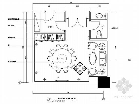 [昆山]五星级酒店包厢室内装饰设计施工图