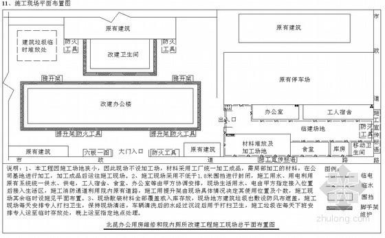 [北京]拆除及装修改造施工组织设计(装修施工进度计划)
