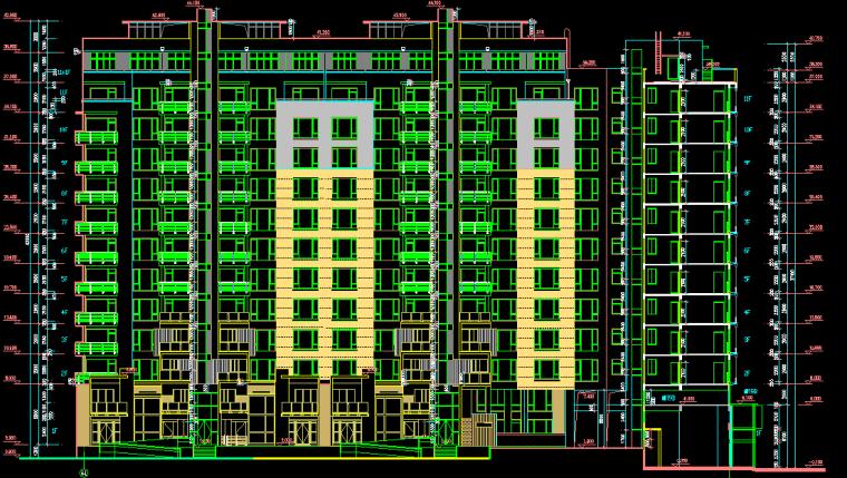 高层住宅楼建筑施工图