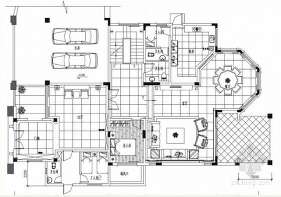 [湖北]低密度高端住宅三层中式风格别墅室内装饰设计方案
