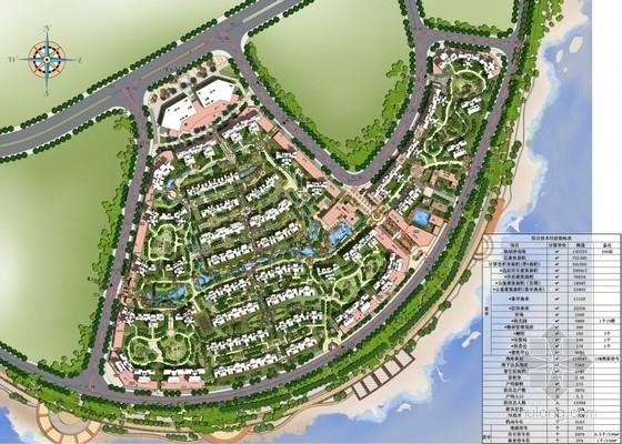 滨水大型居住区规划总平面图