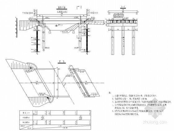 一跨20m后张法预应力砼T梁桥设计图(28张)