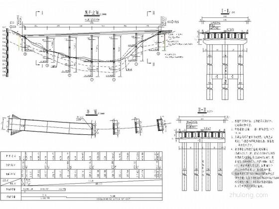 互通式立体交叉匝道桥施工图(先简支后结构连续)