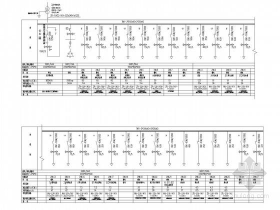 小区高层住宅高低压配电系统图