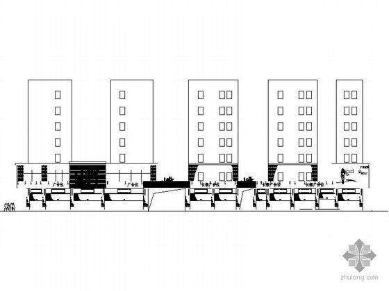 现代商业街两层资料下载-某现代商业街立面装饰工程建筑施工图