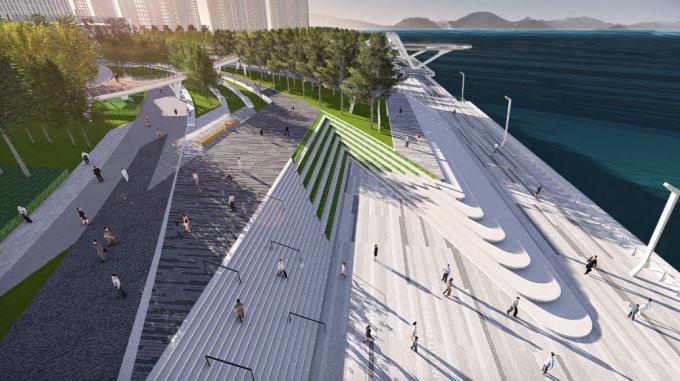 [湖北]滨江生态走廊现代科技商业休闲展示区景观设计方案