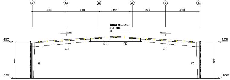 河南火电厂单跨门式刚架厂房钢结构工程施工图(CAD,8张)_2