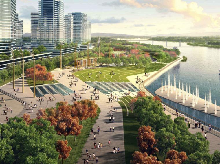 [广东] 顺德德胜河滨水公园景观规划设计(PDF+82页)