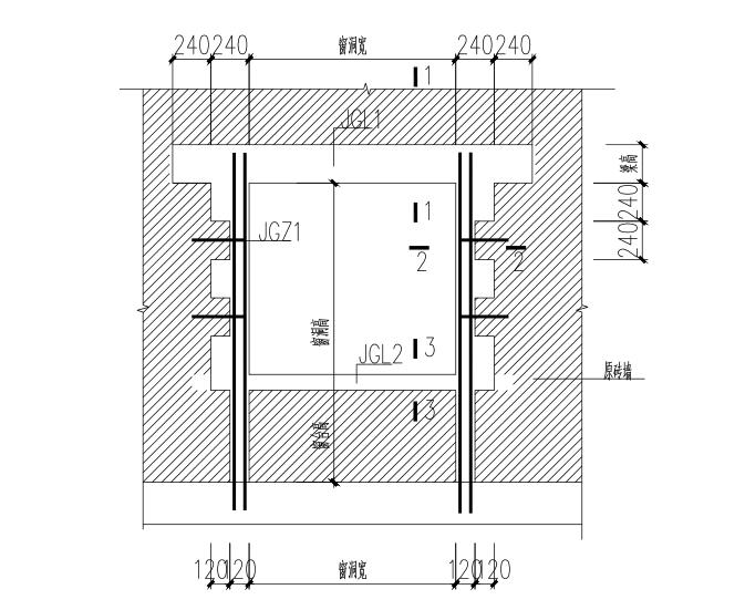 [上海]三层砖混结构幼儿园加固施工图(CAD、11张)