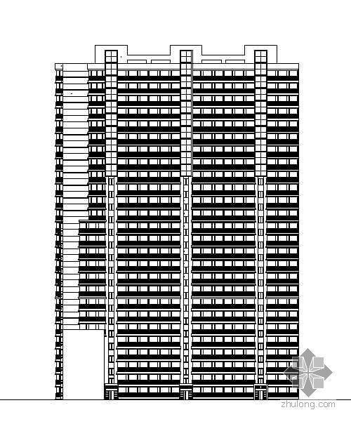[哈尔滨]某框架剪力墙结构高层建筑施工图
